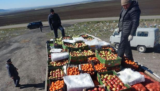 В Третьяковском районе раздавили сотни колограммов санкционных фруктов.