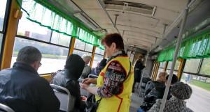 В трамвае. Кондуктор.