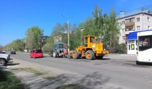 Ремонт дорог в Новосиликатном.