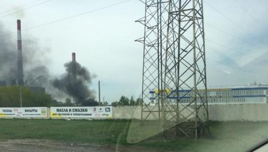 Пожар в районе ТЭЦ-3