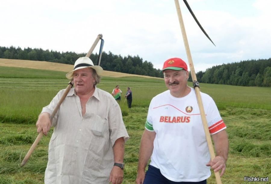 Жерар Депардье и Александр Лукашенко.