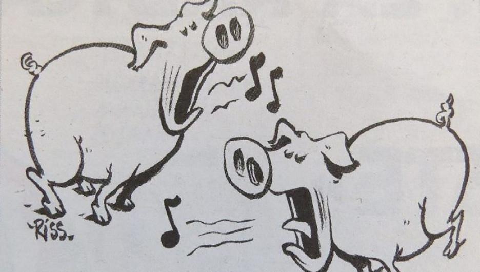 """Фрагмент карикатуры Charlie Hebdo по поводу результатов """"Евровидения-2016""""."""