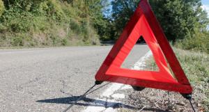 Дорожный знак, аварийная остановка.