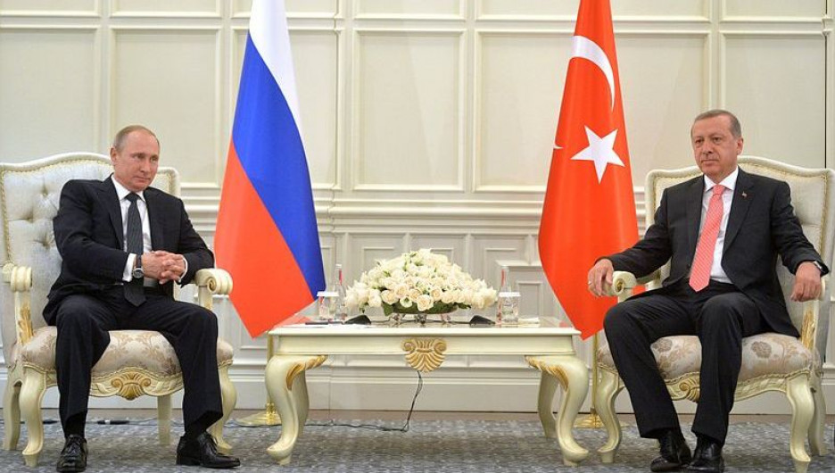 Президент Турции Тайип Эрдоган и Владимир Путин.