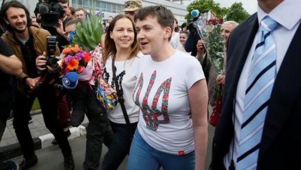 Надежда Савченко в Киеве.