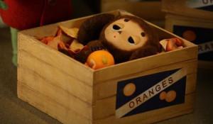 Чебурашка в апельсинах.