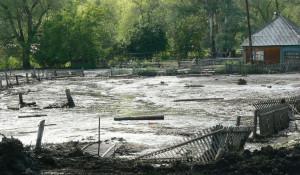Селевой поток сошел на село Сараса.