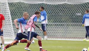 Тренировка сборной России по футболу. 8 июня 2016 года.