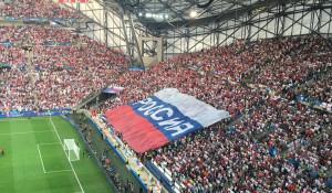"""Российские болельщики перед матчем """"Россия-Англия"""", футбол."""