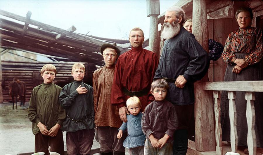 Русская семья, Сибирь в конце 19-го века