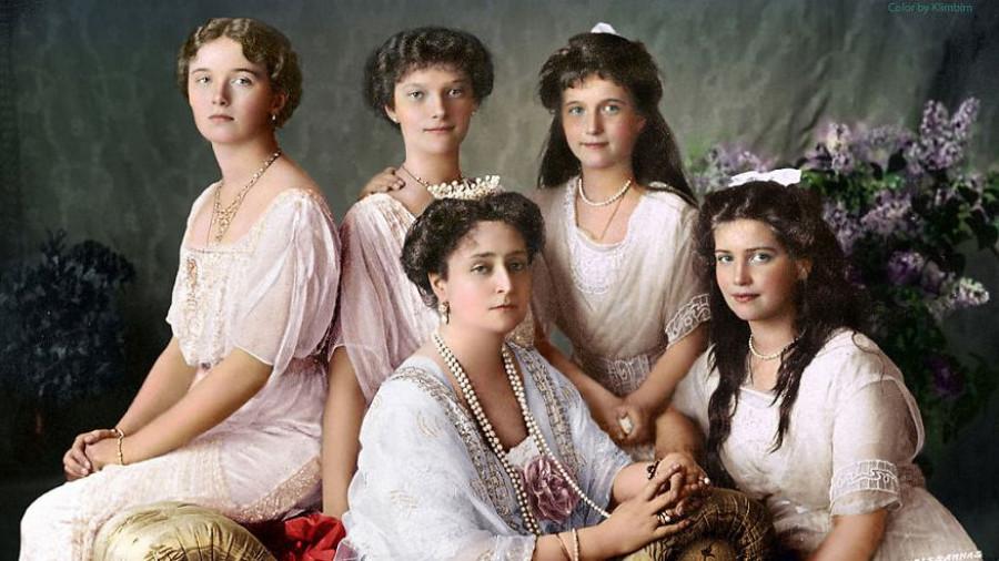 Семья Николая II. Россия, 1913 год.
