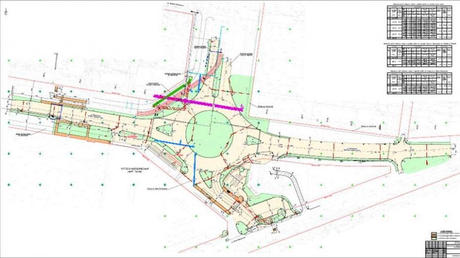 Схема кольцевого движения на пересечении ул. Малахова и Власихинской