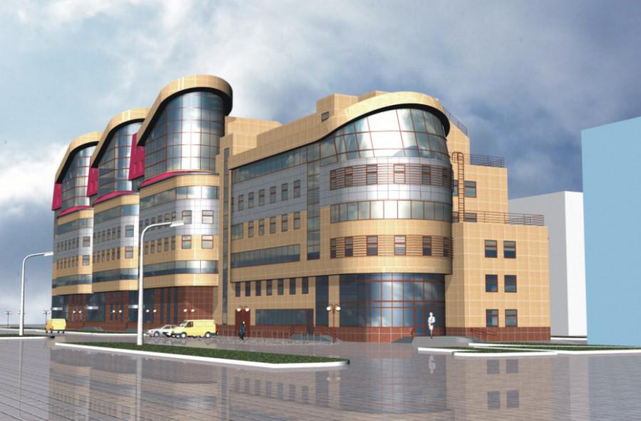 Проект административно-торгового здания на ул. Партизанской, 60.