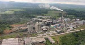 Завод по производству цемента на станции Голуха.