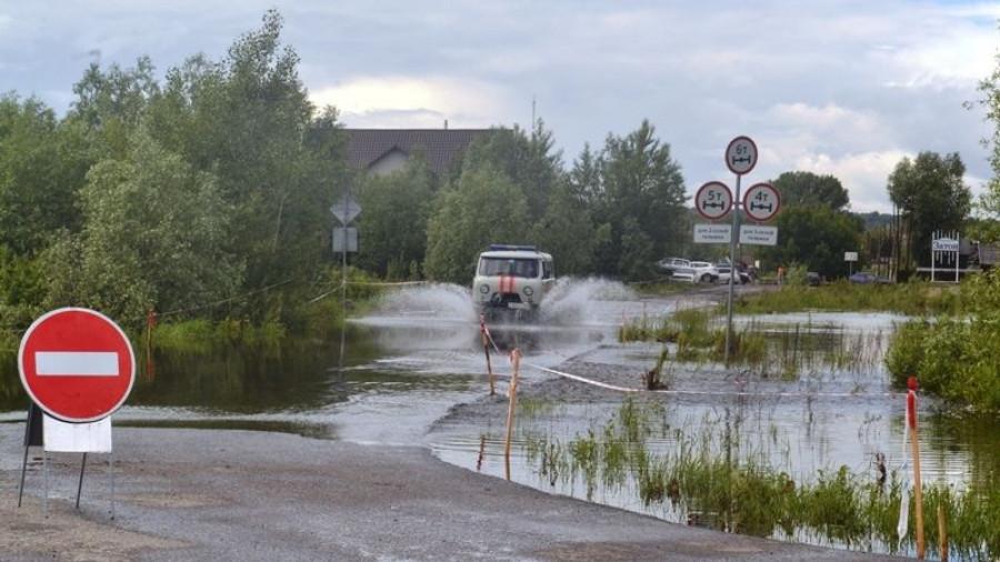Паводок в Затоне.