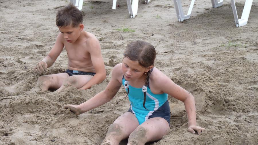 Пляж на Павловском водохранилище