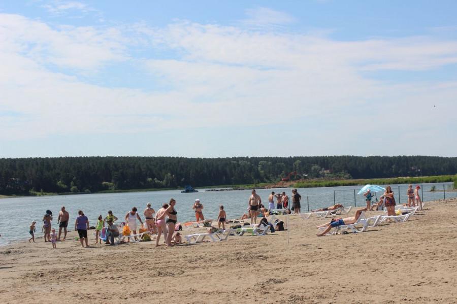 Новый пляж на Павловском водохранилище.
