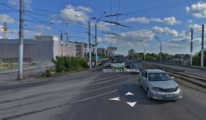 Мост на пр. Ленина в районе Нового рынка.