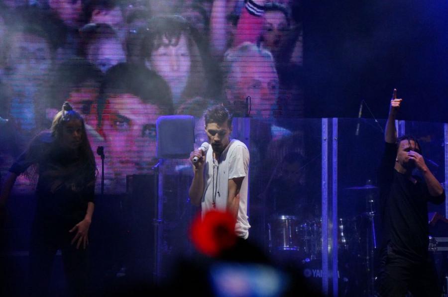 Дима Билан выступил на Дне металлурга в Заринске.