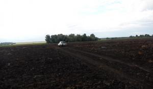 В Шелаболихинском районе угонщики застряли в грязи.