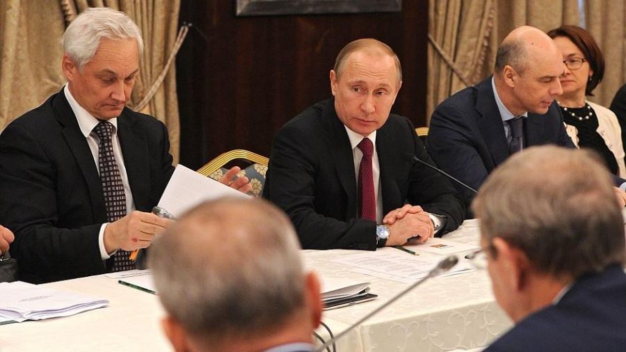 Андрей Белоусов, Владимир Путин, Антон Силуанов, Эльвира Набиуллина.