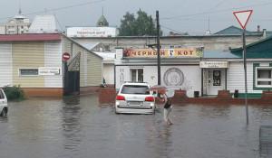 """""""Потоп"""" в Барнауле."""