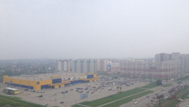 Мгла в Барнауле.