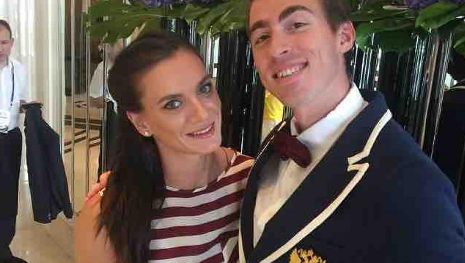 Сергей Шубенков и Елена Исинбаева.