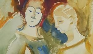 """Выставка """"Свет души"""". Автор картины - пациент Краснодарской психиатрической больницы."""