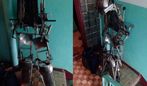 Экзоскелет ветерана спецподразделений из Новосибирска.