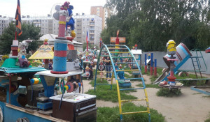 Детская площадка на улице Чихачева.