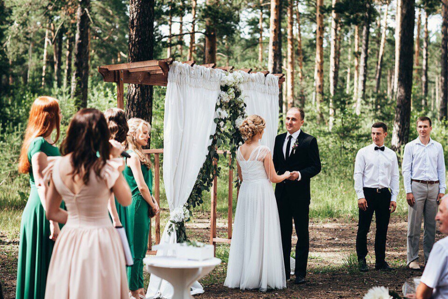 """Свадьба, организованная студией особенных событий """"Поэтика  любви""""."""