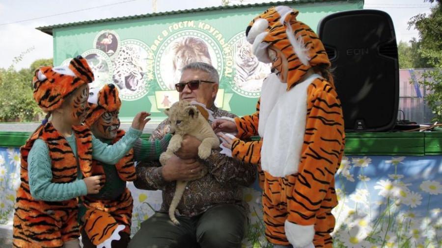 День амурского тигра в Барнаульском зоопарке.