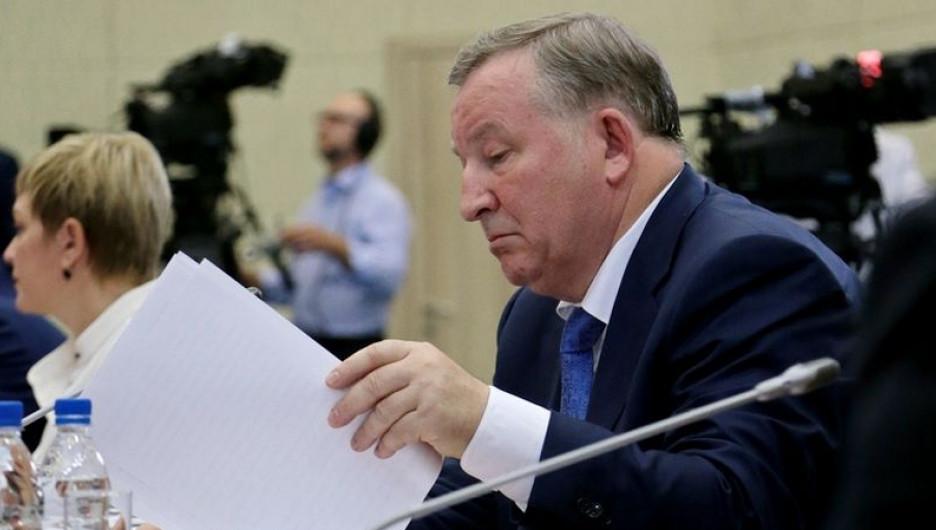Александр Карлин на заседании президиума Госсовета. Белокуриха, 26 августа 2016 года.