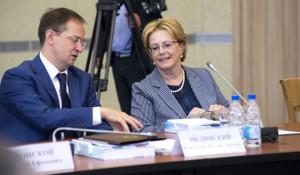 Владимир Мединский и Вероника Скворцова.