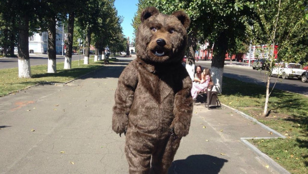 В Барнауле в День города состоится массовый велозаезд, который возглавит Барнаульский медведь - символ города