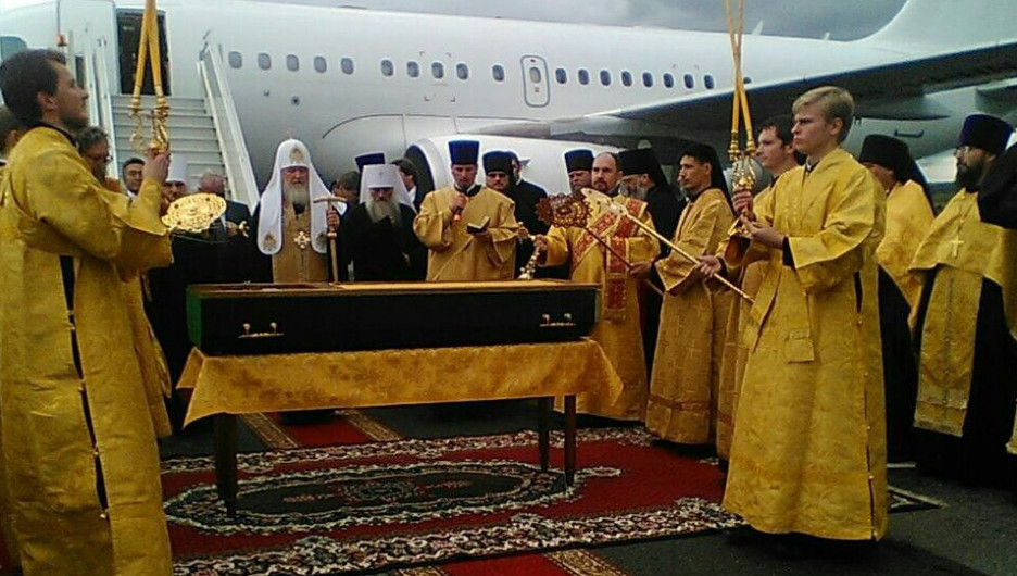 Патриарх Кирилл прилетел в Горно-Алтайск.