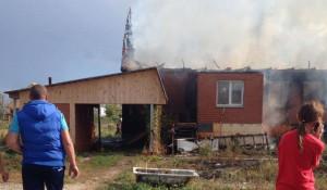 Пожар в поселке Благодатное.