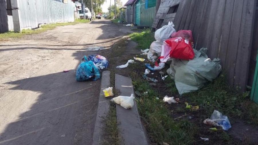 Мусор в поселке Кирова.