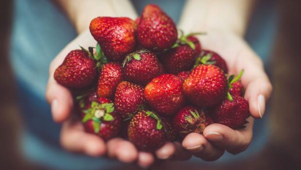 Садовая земляника, ягоды.