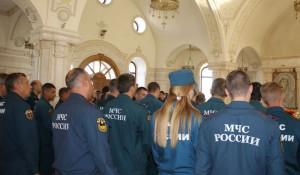 Сотрудники МЧС приняли участие в благодарственном молебне