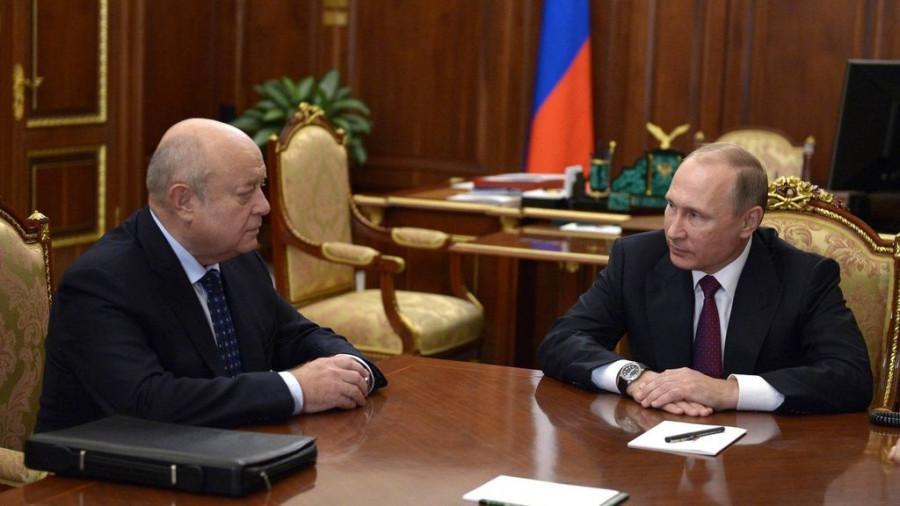 Владимир Путин и Михаил Фрадков.