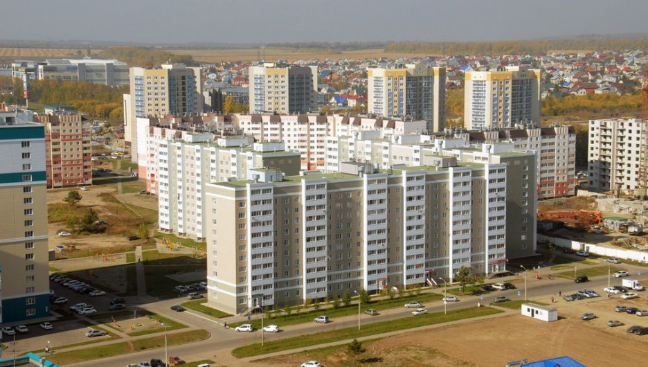 Новостройки Барнаула. Окраина города.