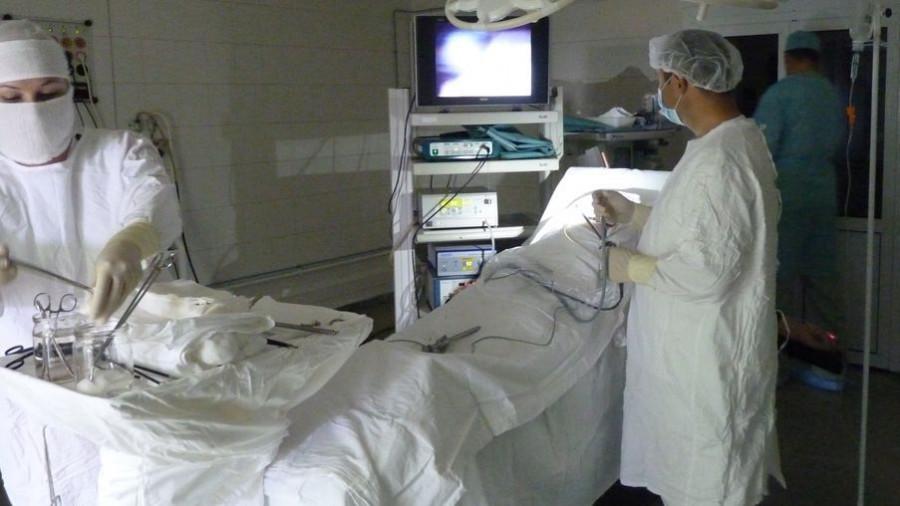 Операционная в Краевой клинической больнице