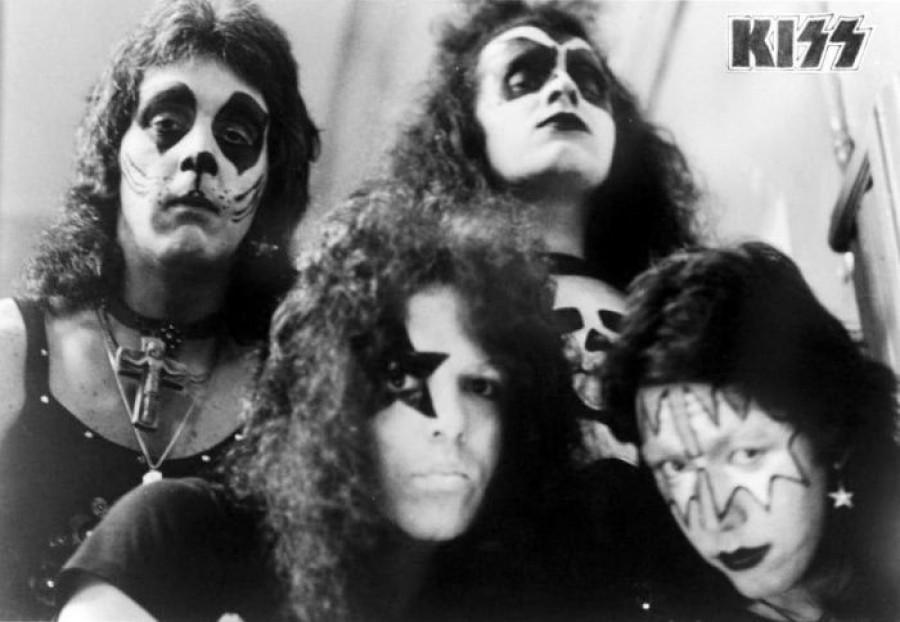 Первый пробный макияж группы Kiss, 1973 год, США