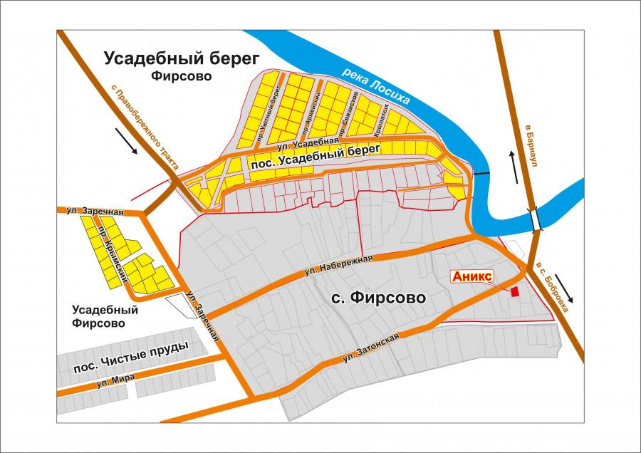 Карта с. Фирсово.