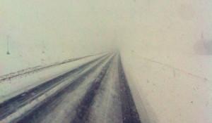 Метель на трассе между Барнаулом и Алейском.