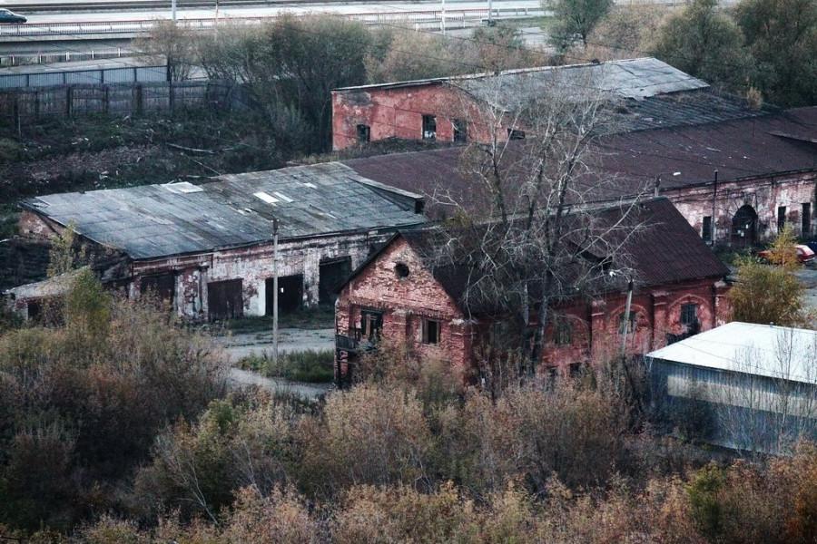 Осенний Барнаул: виды с лестницы Нагорного парка.