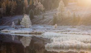 Горный Алтай в октябре.