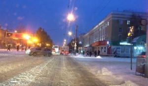пр. Ленина утром 25 октября